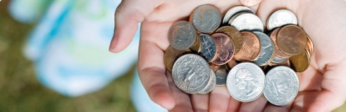 Your coins will change a life. Collect them and send a child to school.